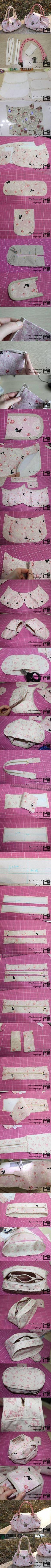 DIY Sew Cute Handbag diy craft #crafts craft ideas diy ideas diy crafts how to tutorial diy accessories fashion crafts craft handbag #diycrafts #handbagdiy #diyhandbag #sewingcrafts #fashionhandbags