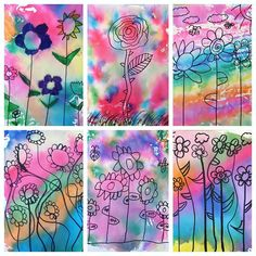 Gorgeous Spring Themed Marker Monoprints by my newest group of Art clubbers today! Check out my story to view our creative process! Art Du Monde, Spring Art Projects, Kindergarten Art Projects, 2nd Grade Art, Ecole Art, Plant Art, Inspiration Art, Art Lessons Elementary, Preschool Art