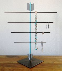 Welded Turquoise Arrow Jewelry Display by RagNBoneVintage on Etsy, $85.00