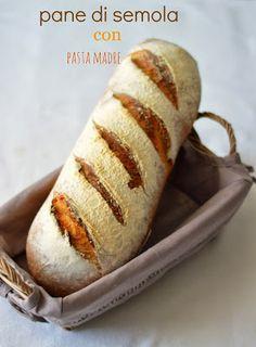 la pancia del lupo: pane di semola con pasta madre