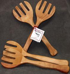 birch Moose Spoons / wooden Salad servers / by kootenayspoons, $20.00