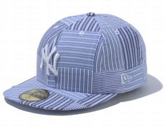 84b3dd4f0f5 New York Yankees Patchwork Stripes 59Fifty Fitted Cap by NEW ERA x MLB Fitted  Baseball Caps