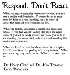 #dbt Big difference between responding and reacting.