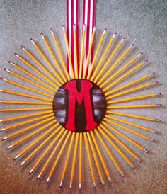 pintrest teacher crafts | My daughters gift to her teacher! Christmas gift! DIY - Pencil M ...
