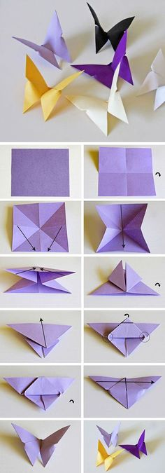 Origami paper butterfly tutorial