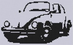 Looking for your next project? You're going to love VW Bug Cross Stitch Pattern by designer bracefacepatterns. - via @Craftsy