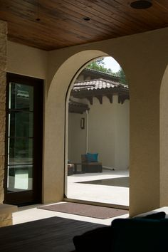 Executive Motorized Retractable Screens By Phantomscreens Are Recessed Into The Arches Of