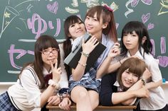 otokonoko-japanese-traps: Let's go back to school and don't forget: be nice to your new classmates! Suu (すぅ), Runa (るな), Sachiko (さちこ), Mio Ogura (小倉弥桜 ) & Ka-Ju (かじゅ) (from left to right) …