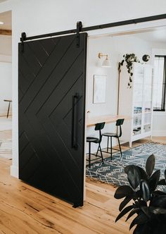 Custom Built Sliding Barn Door Hinge Pocket Door X design Etsy Sliding Door Design, Modern Sliding Doors, Modern Barn Doors, Diy Sliding Door, Modern Closet Doors, Modern Barn House, Sliding Pocket Doors, Modern Houses, Barn Door Hinges