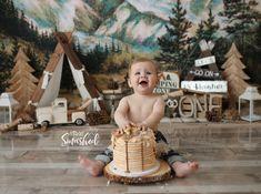 South Jersey Cake Smash photographer, K Artocin Photography, adventure theme, pancakes, Camping theme Smash Cake First Birthday, Boy First Birthday, Camping Theme Cakes, Outdoor Cake Smash, 1st Birthday Pictures, Birthday Ideas, 1st Birthday Photoshoot, Baby Boy Cakes, Cake Smash Photography