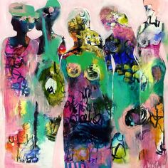 """Tracy Verdugo. She Tribe. 30x30"""". Acrylic on canvas. Sold."""