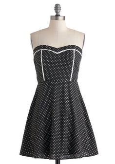 I like the accenting in white.  Short and Sweetheart Dress, #ModCloth