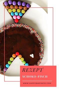 SCHOKO-FISCH | Schokoladenkuchen mit Smarties und Zuckerstreusel | Kindergeburtstag | Fasching | Familienrezepte - Kuchen & Torten - happybabyness.com