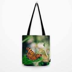 Comma Butterfly Tote Bag by Vicki Field
