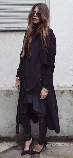 layers. all black.