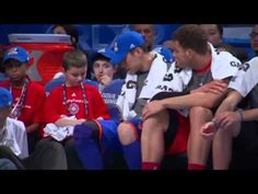 Jeremy Lin does his best to persuade young fan not to share with Blake Griffin.