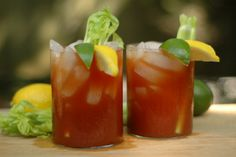 Hot and spicy Bloody Mary - I like the old fashioned glass size best ...
