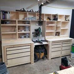 Top 80 Best Tool Storage Ideas - Organized Garage Designs From power to hand t. Top 80 Best Tool Storage Ideas – Organized Garage Designs From power to hand tools and beyond, Garage Tool Organization, Garage Tool Storage, Workshop Storage, Garage Tools, Organization Ideas, Garage Shop, Diy Garage Work Bench, Workshop Bench, Workshop Shelving