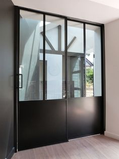 Portes int rieures on pinterest interieur sliding doors - Double porte a galandage interieur ...