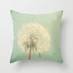 Dandelion Clock Throw Pillow by Cassia Beck - $20.00