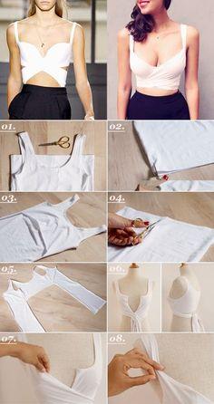 no sew crop top