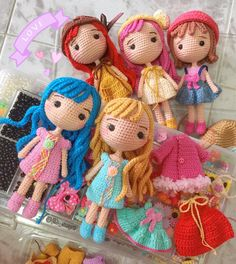 Irresistible Crochet a Doll Ideas. Radiant Crochet a Doll Ideas. Amigurumi Patterns, Amigurumi Doll, Doll Patterns, Crochet Hook Set, Cute Crochet, Knitted Dolls, Crochet Dolls, Crochet Doll Pattern, Crochet Patterns