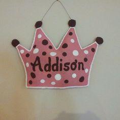 Princess Crown burlap door hanger