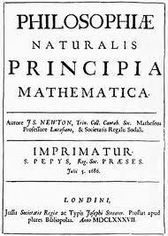 Libro de Isaac Newton, sobre la mecánica, y el movimiento de los cuerpos celestes