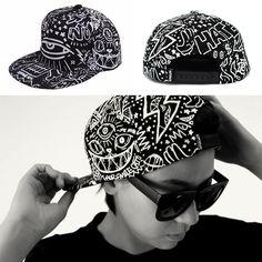 0a86c98d4726 New Black Men Bboy Unisex Adjustable Fashion Snapback Baseball Cap Hip Hop  Hat