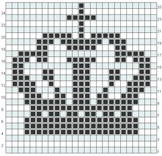 King's Crown Chart pattern by Justin Phillips Crown knitting chart Always aspired to be able to knit, nonetheless uncertain where to begin? This particular Utter Begi. Crochet Pixel, Crochet Chart, Knit Or Crochet, Christmas Embroidery Patterns, Needlepoint Patterns, Perler Patterns, Knitting Charts, Knitting Stitches, Loom Beading