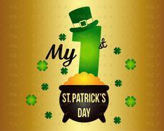 f0fec2ed39dc22 Saint Patricks Day - Mardi Gras · 60% OFF My 1st St Patrick s Day SVG  Leprechaun Hat Decal Shamrock Lucky Silhouette Digital