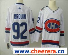 Men s Montreal Canadiens  92 Jonathan Drouin White Authentic 2017 100  Classic Stitched NHL Jersey 42d5a05cd