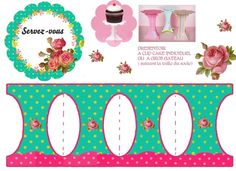 jhkhpresentoir_gateaux Paper Cupcake, Cupcake Party, Hand Crafts For Kids, Diy And Crafts, Mini Stand, Eid Cupcakes, Oh My Fiesta, Alice In Wonderland Birthday, 3d Paper Crafts