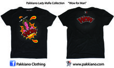 Pakkiano Lady Mafia Collection  Modello: WoW Uomo, Ordina online senza spese di spedizione! T-Shirt di altissima qualità con packaging esclusivo, Noir Style Season 2015 SHOPPING ON ... www.pakkiano.com_Ebay_Amazon_FacebookShop_PakkianoMobile