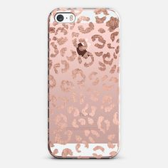 Modern rose gold foil hand drawn leopard print pattern by Girly Trend - Classic Snap Case