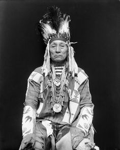 Blackfoot Indian in Ceremonial Attire