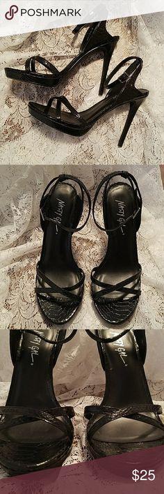 """Nasty Gal strapy heels sz8.5 black Nasty Gal strapy heels sz8.5 black. Heel height is approximately 4.75-5"""". Nasty Gal Shoes Heels"""