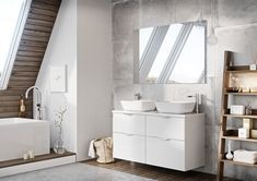Meble łazienkowe/ bathroom furniture Ambio New Collection Bathroom Goals, Bathroom Inspo, Bathroom Collections, Beautiful Bathrooms, Double Vanity, Interior Inspiration, Tiles, Make It Yourself, Dreams