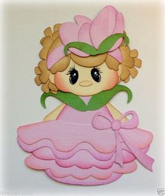 PETAL PAL ROSE PINK GIRL SPRING SUMMER PAPER PIECING TEAR BEARS KIRA