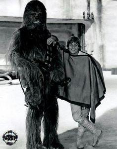 Luke Skywalker & Chewbacca #starwars