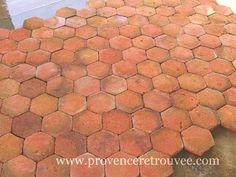Tomettes Anciennes Hexagonales En Terre Cuite Une Fois