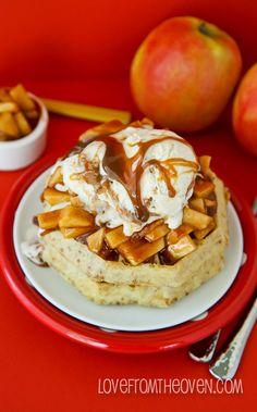 Apple Pie Waffles