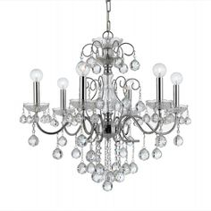 Imperial 24-inch Polished Chrome 6-Light Chandelier