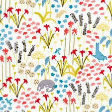 Organic Cotton Sunnyside Noon Cloud 9 Fabric by MountainFabrics