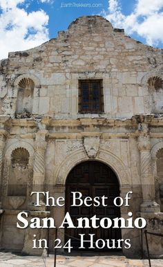 San Antonio, Texas. The best things to do if you only have one day. Visit the Alamo, tour the missions, and stroll the Riverwalk.
