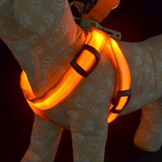 Training Safety Light Glow Harnesses Leash for Dogs LED dog collar #01677518 GBP £5.27 #miniinthebox.com