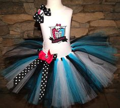 Ready to ship  MONSTER HIGH tutu tee shirt by LilDivaStarzBoutique, $46.00