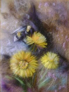 Картины цветов ручной работы. Ярмарка Мастеров - ручная работа. Купить Картина из шерсти. Жизнь среди камней.. Handmade.