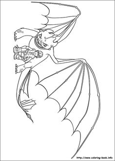 How to train your dragon coloring picture