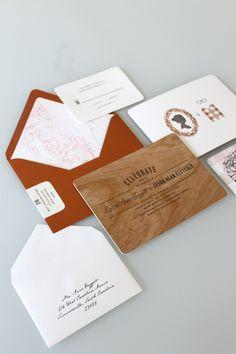 Wooden invitations.